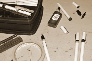 Instruments and tools for the pen and ink artist